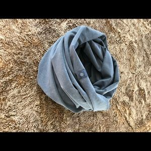 lululemon vinyasa scarf terry washed code blue